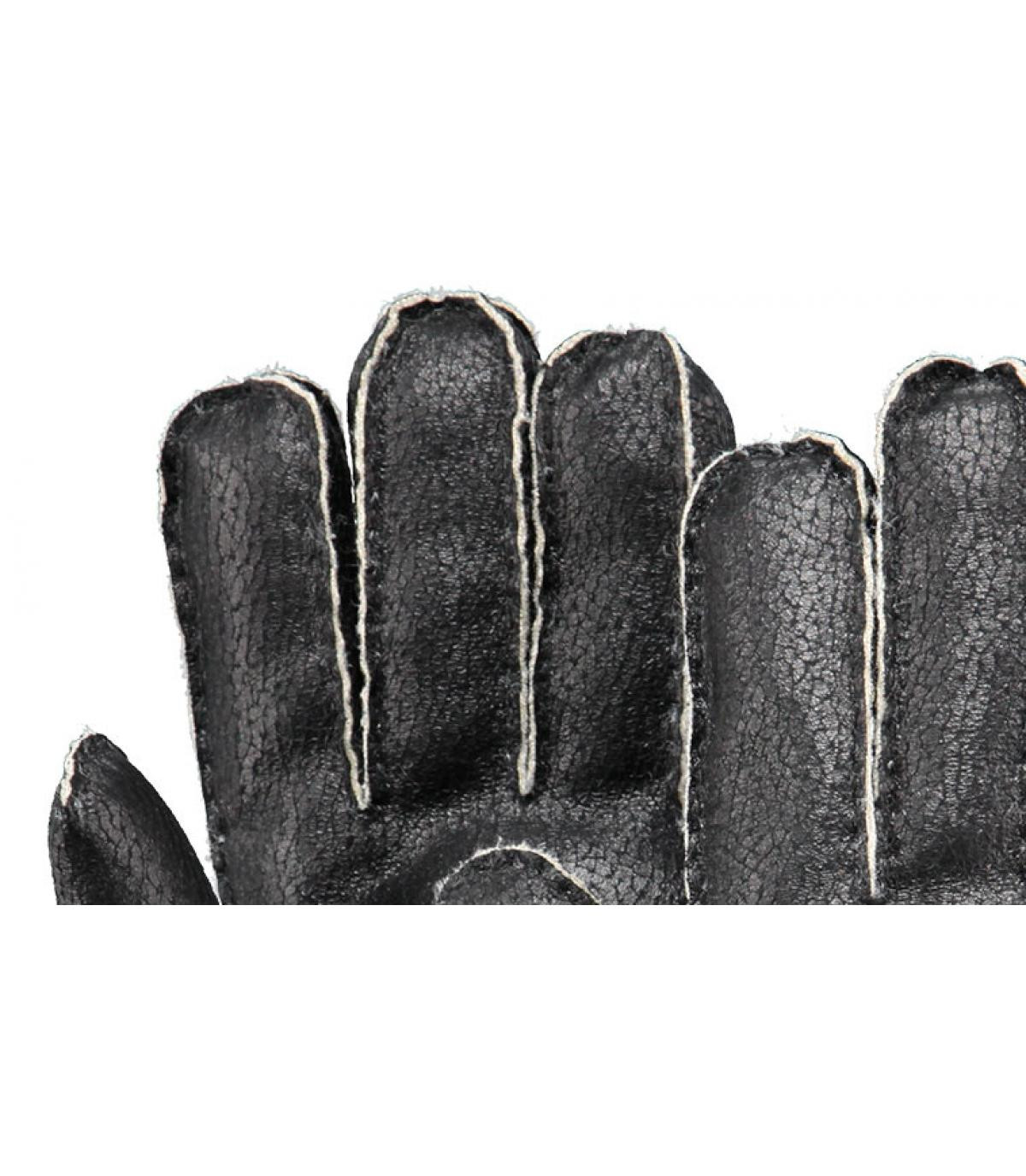 Details Chakku Handschuhe für Herren schwarz - Abbildung 2