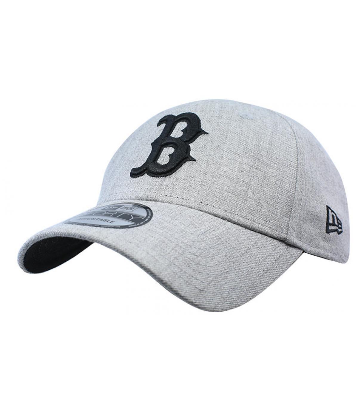 Cap B grau schwarz