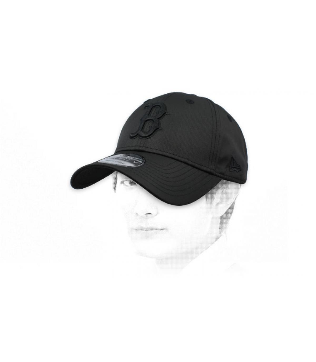 Cap B schwarz Ripstop