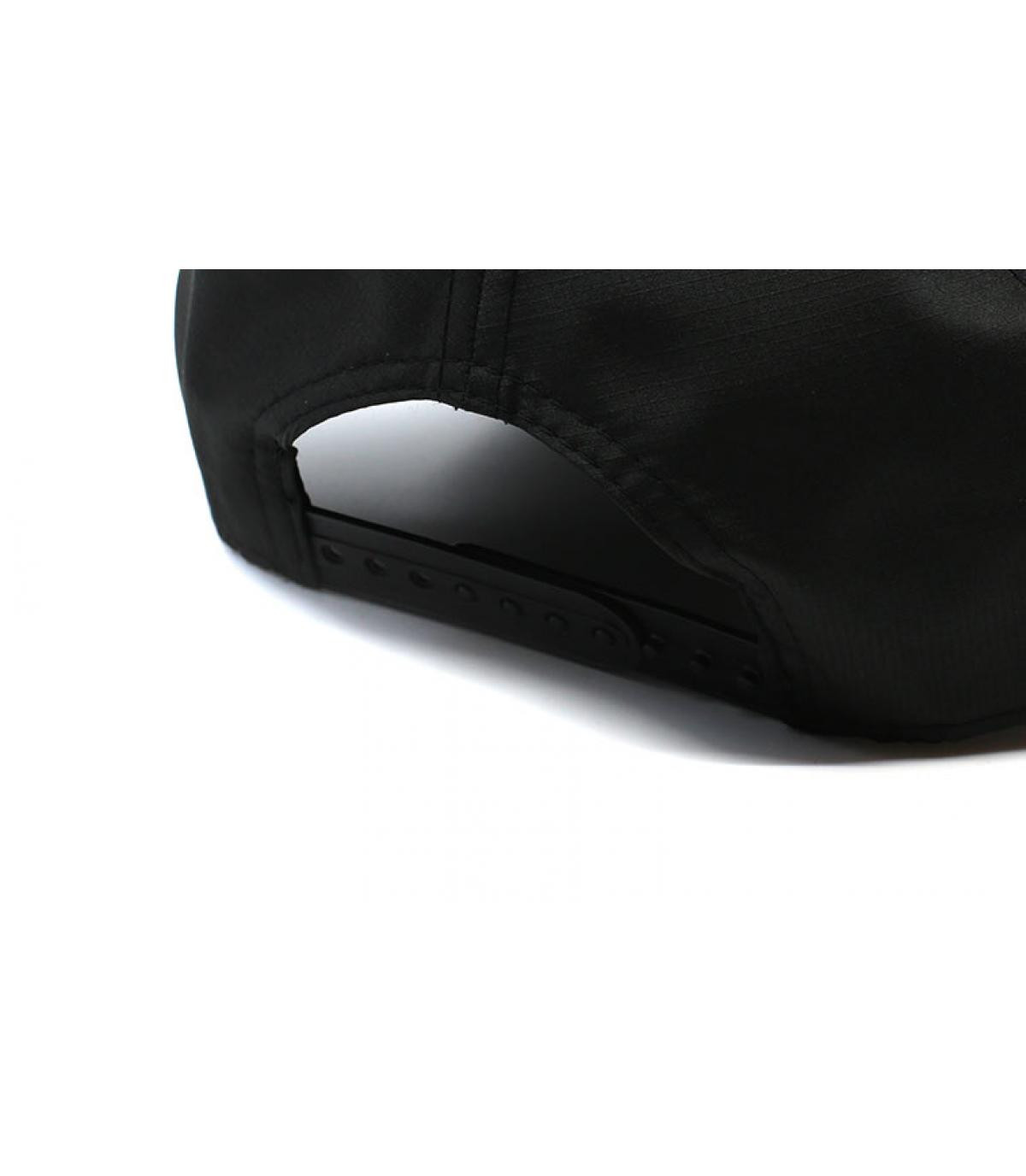Details Cap Ripstop NY Aframe black maroon - Abbildung 5