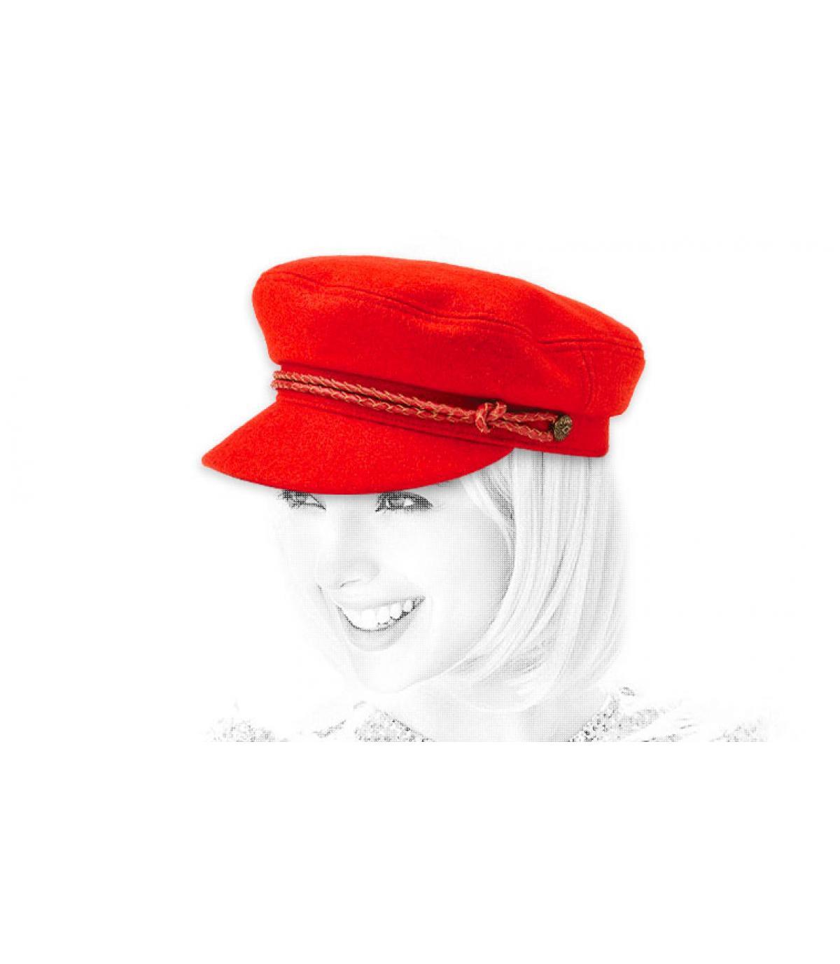 Elbsegler Mütze Damen rot
