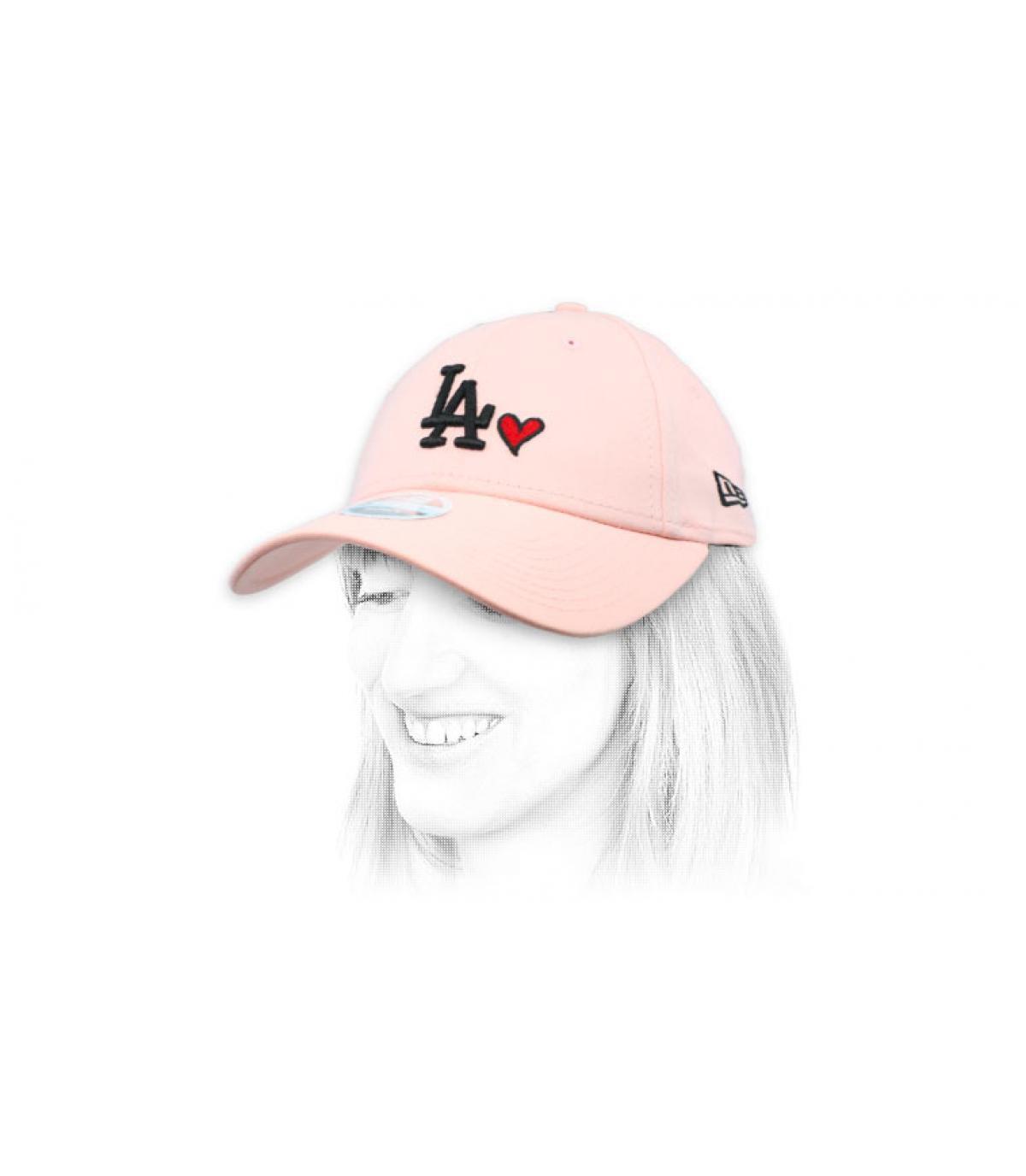 Damen Cap LA rosa Herz