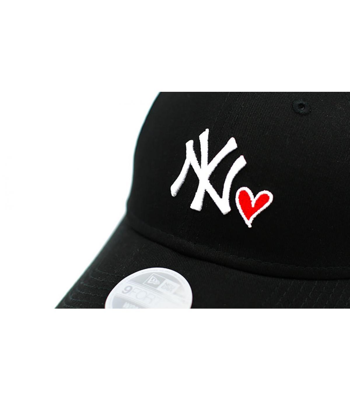 Details Cap Wmns Heart NY 940 black - Abbildung 3