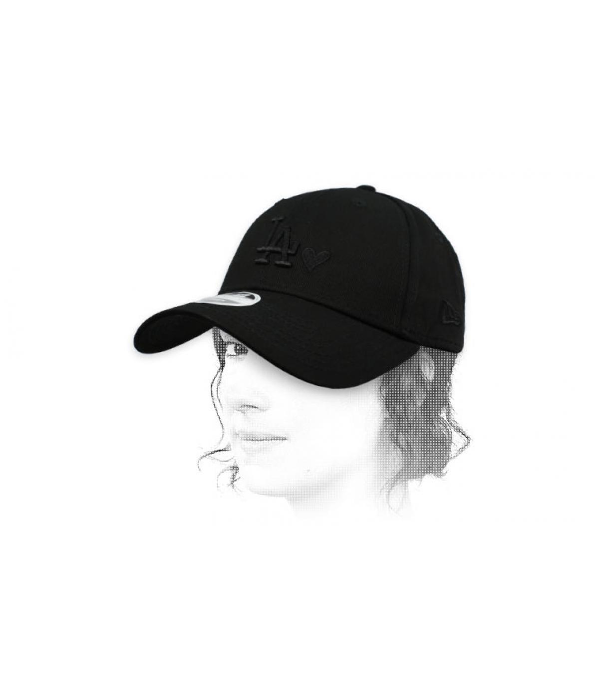 Damen Cap LA schwarzes Herz