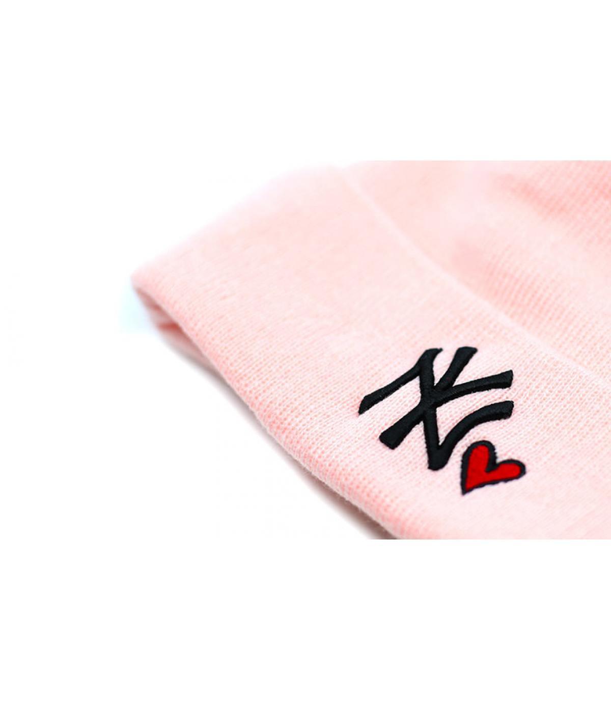 Details Mütze Wmns Heart NY knit pink - Abbildung 3