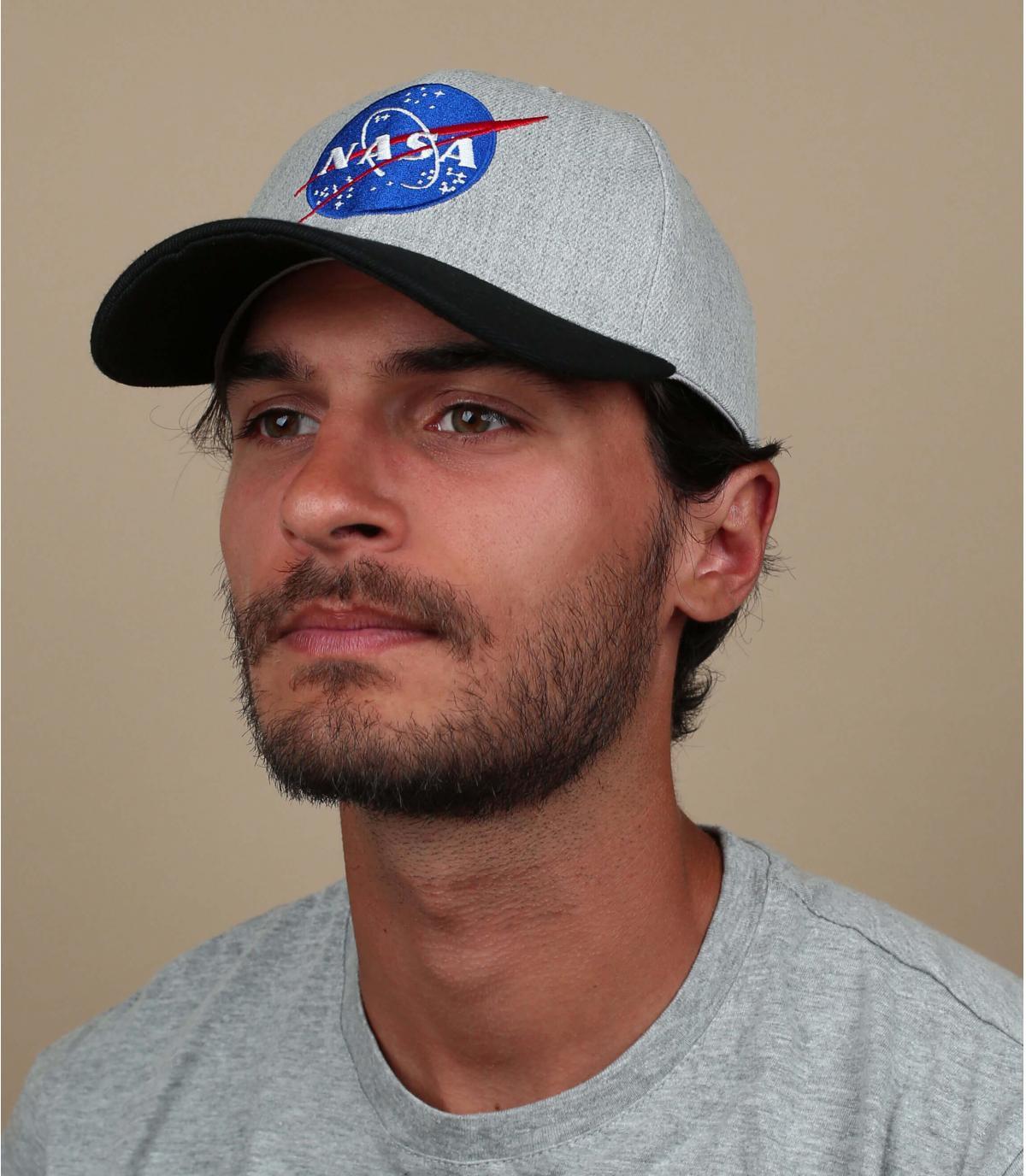 Cap NASA grau schwarz