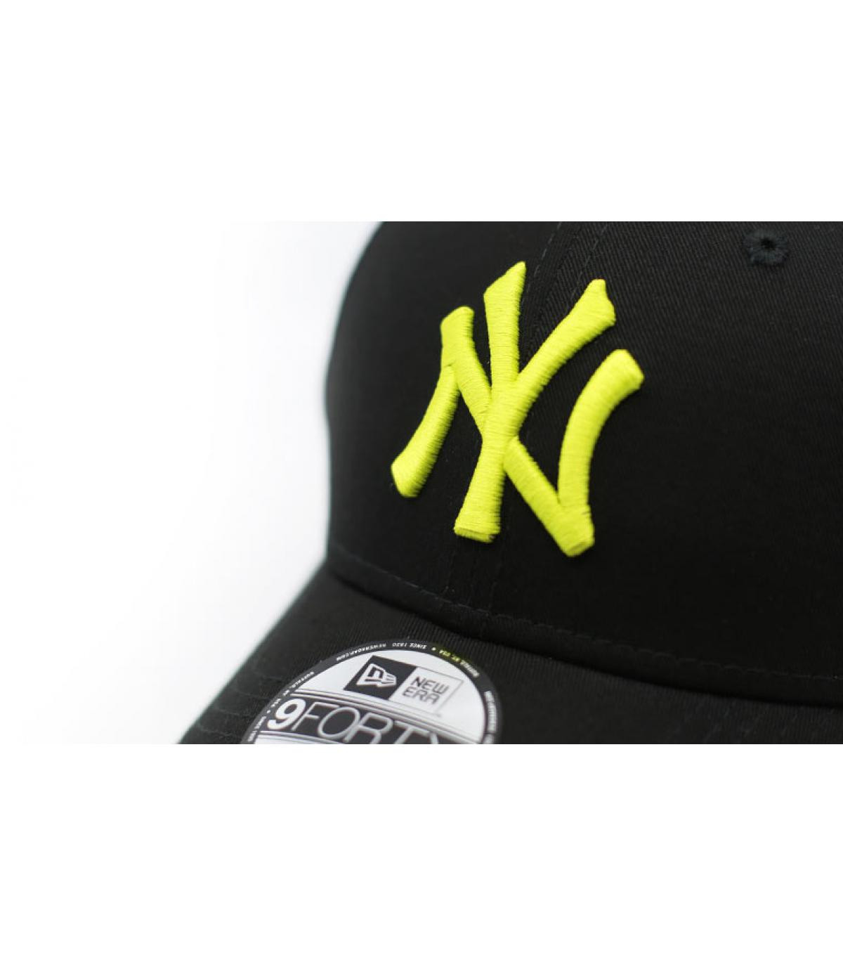 Details Cap League Ess NY 9Forty black cyber green - Abbildung 3