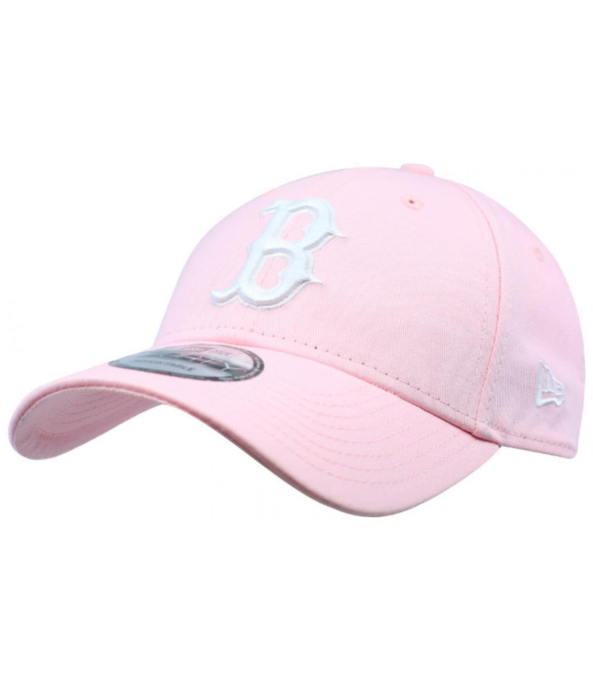 Cap B rosa weiß