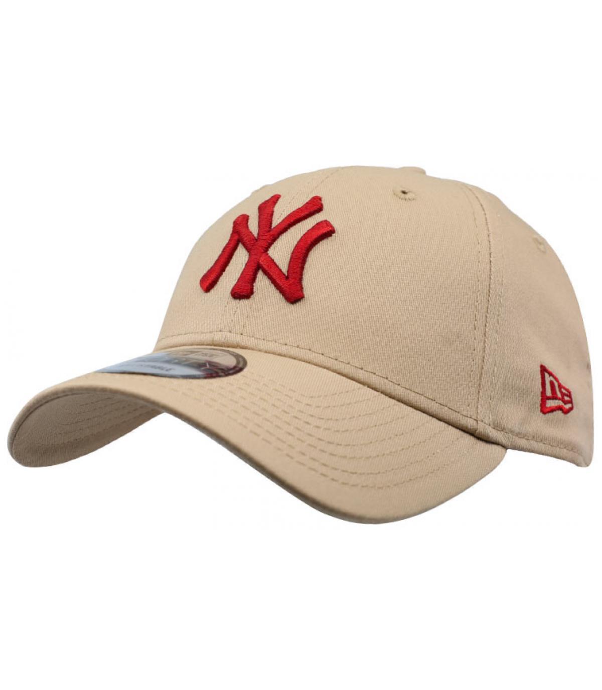 Cap NY beige bordeaux