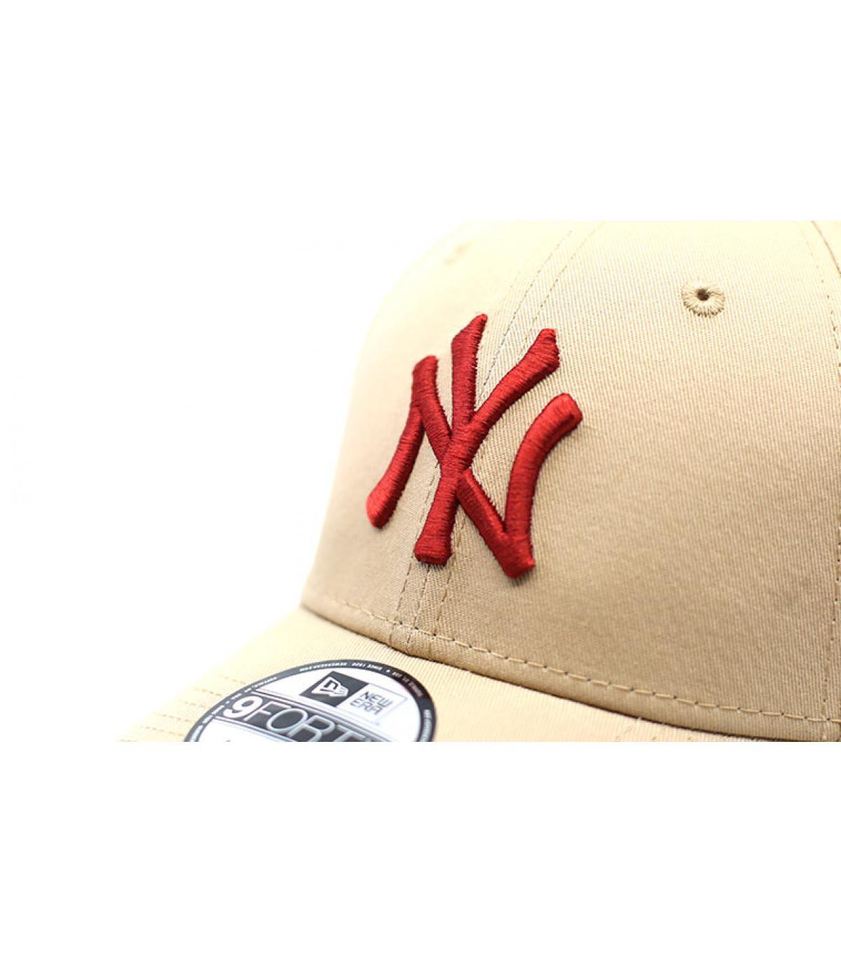 Details Cap League Ess NY 9Forty camel hot red - Abbildung 3