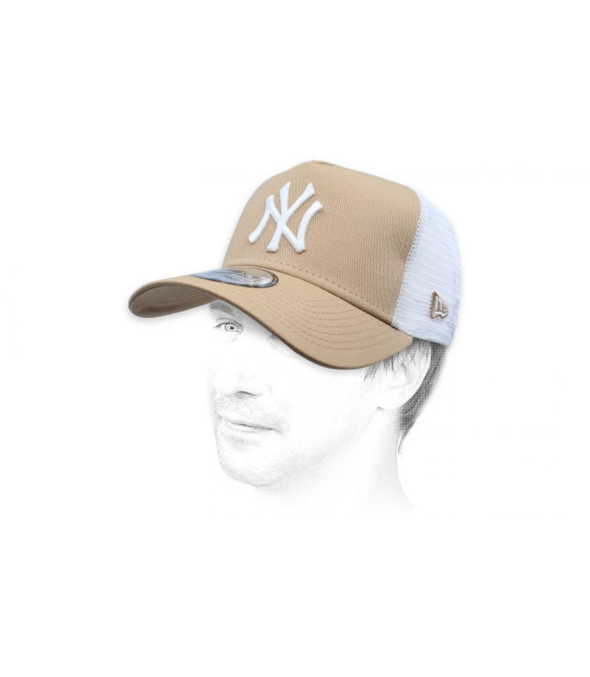 Trucker NY beige weiß