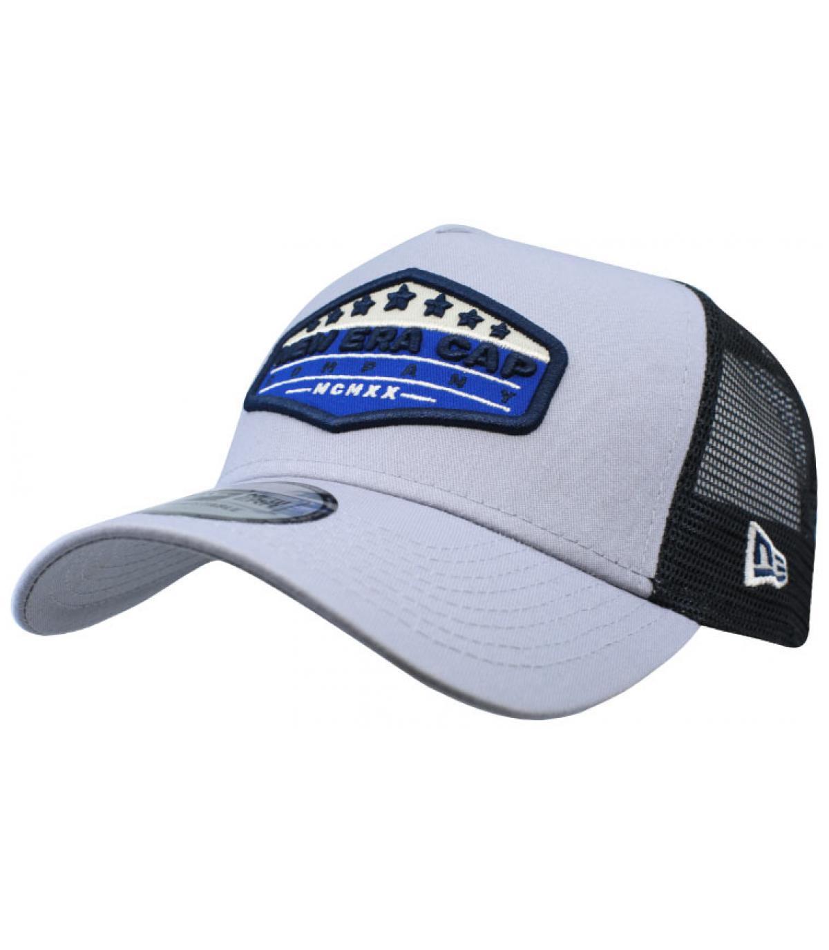 Trucker New Era patch grau blau