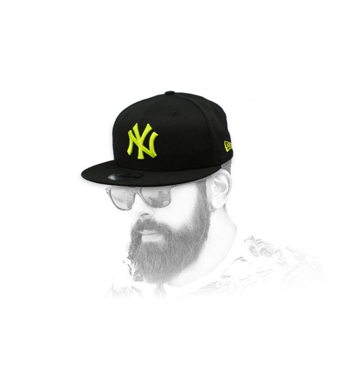 Snapback NY schwarz gelb