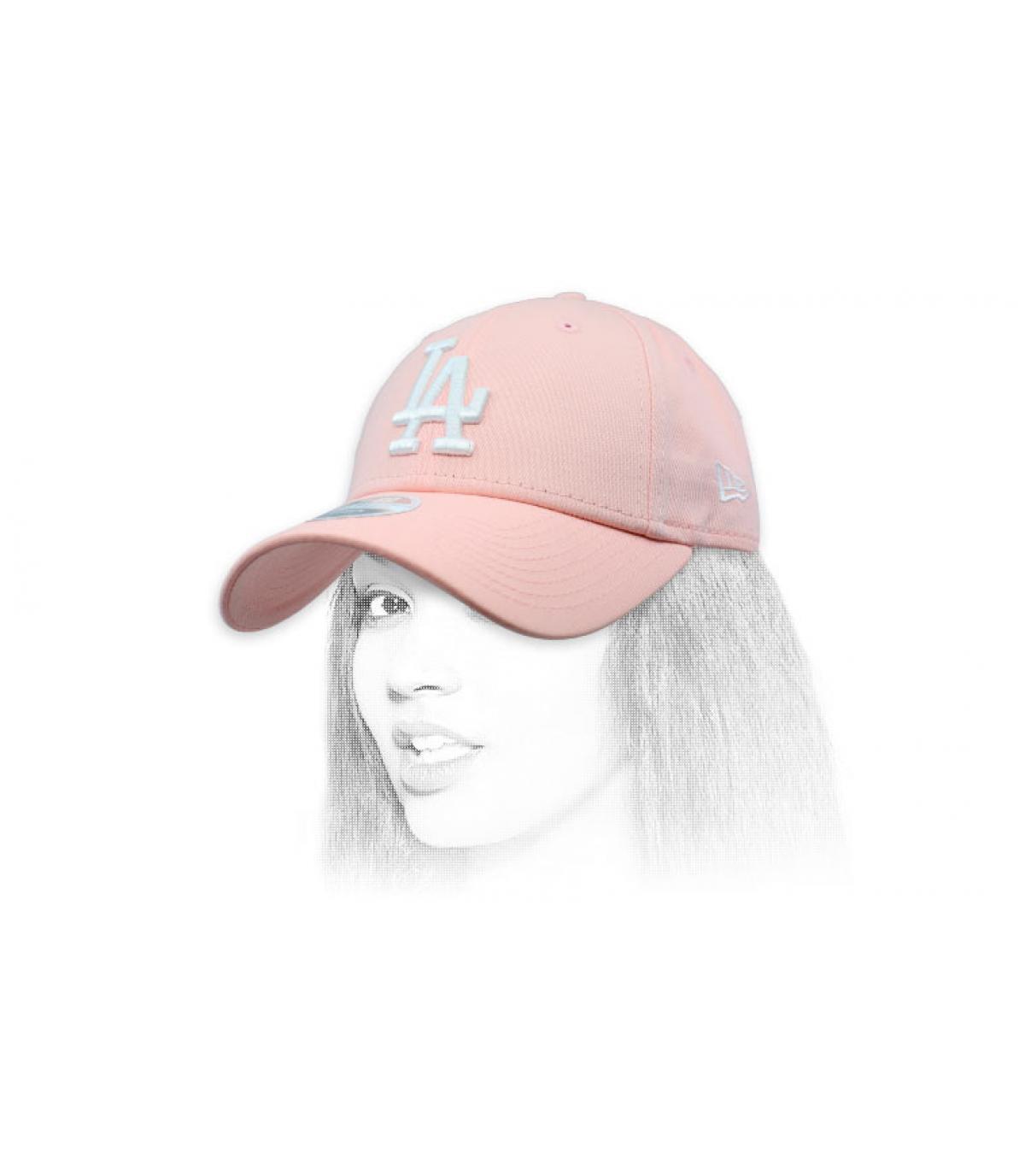 Damen Cap LA rosa