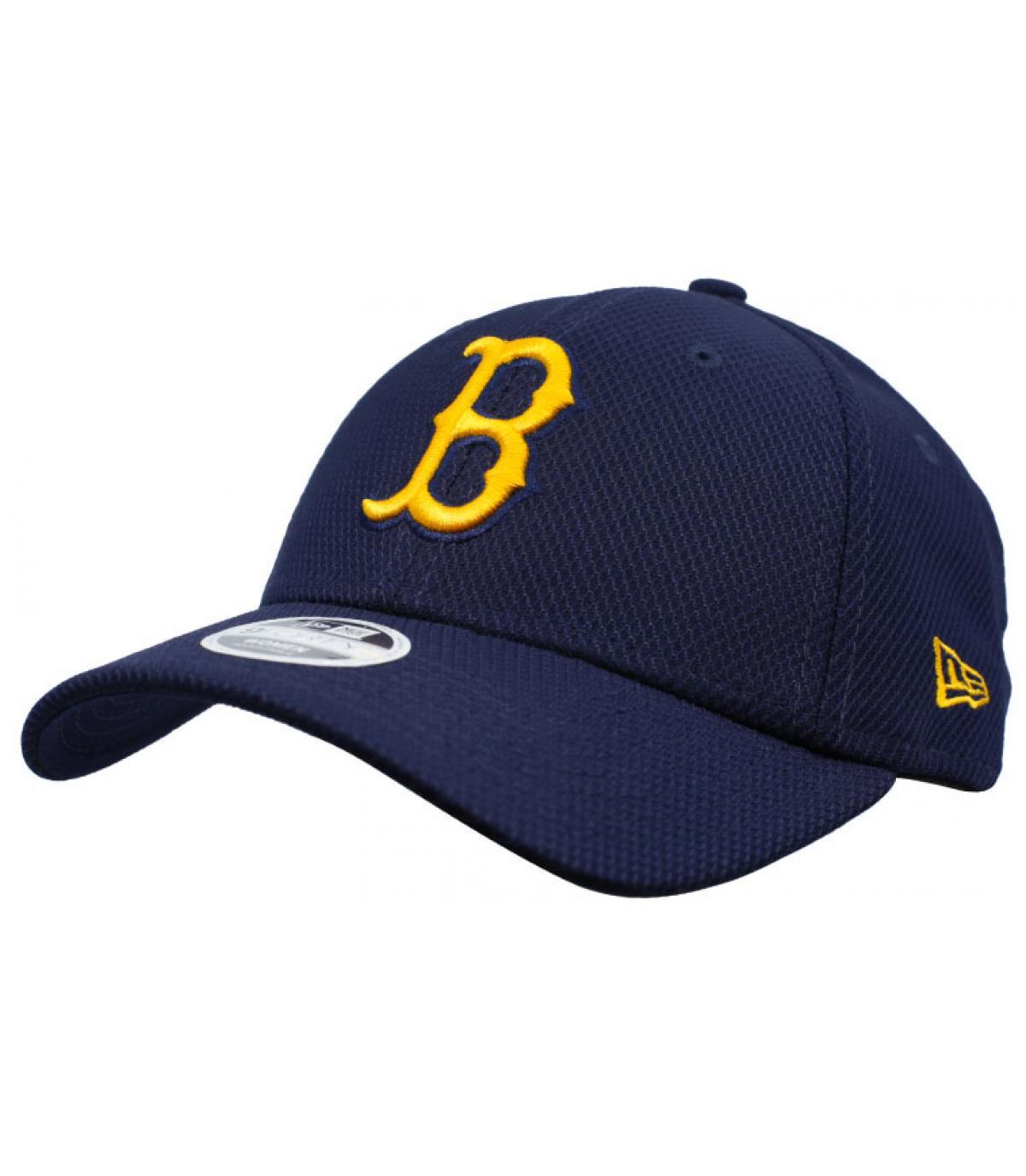Damen Cap B blau gelb