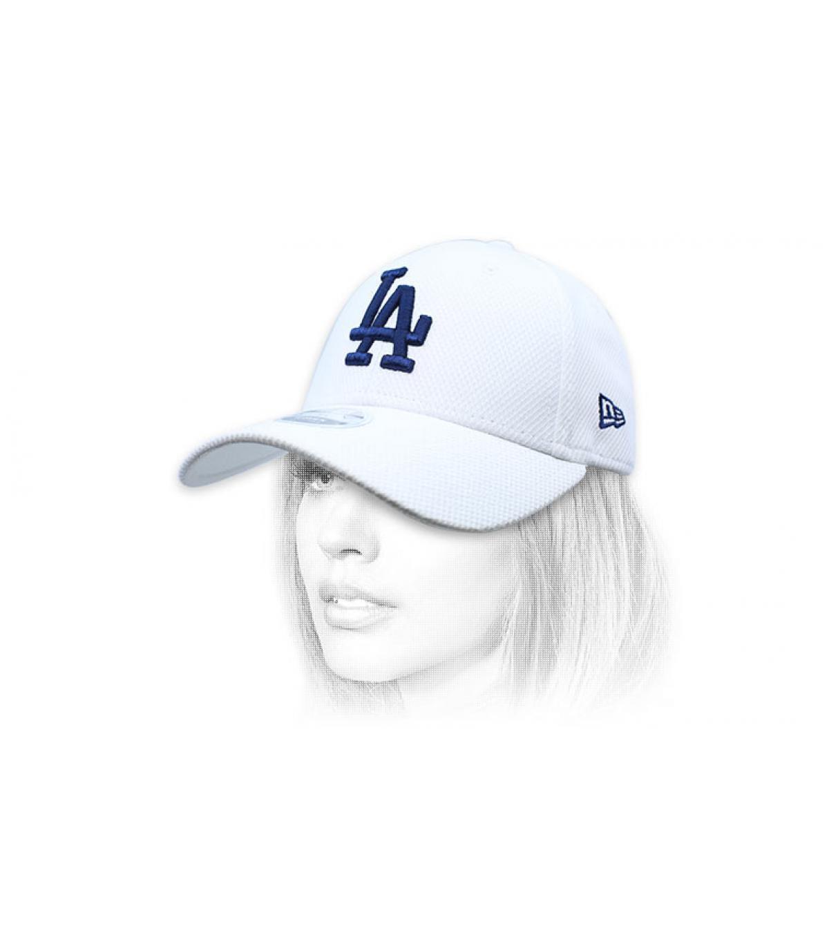 Damen Cap LA  weiß blau