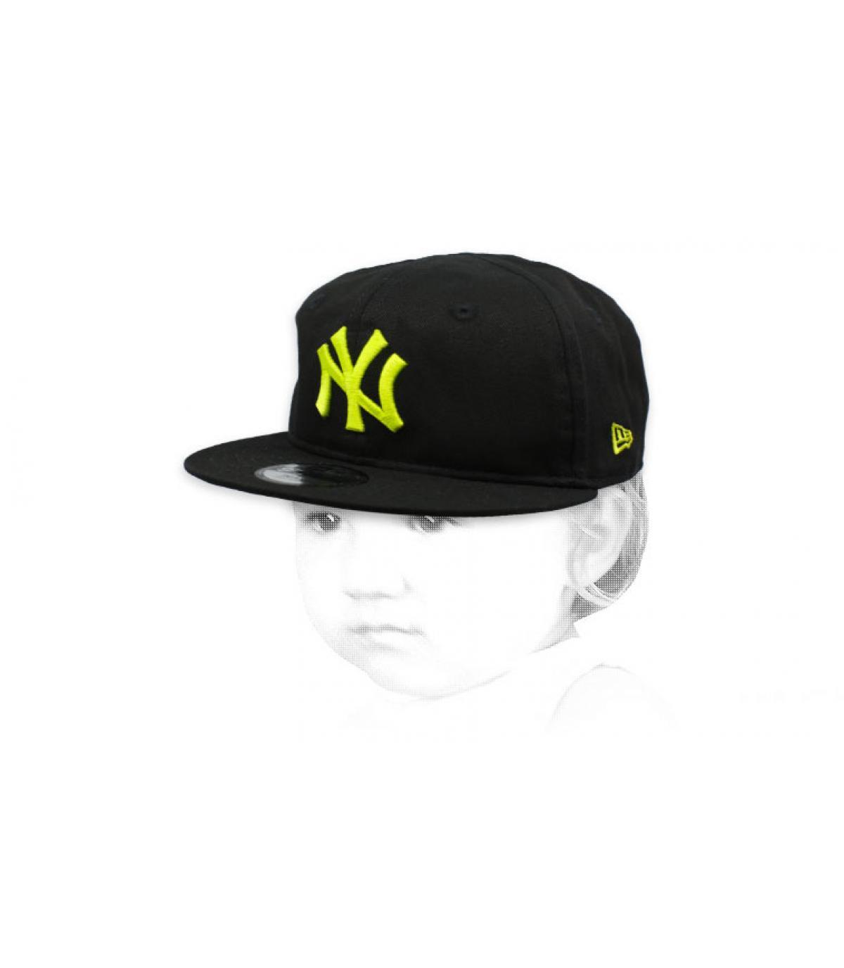 Baby Cap NY schwarz gelb