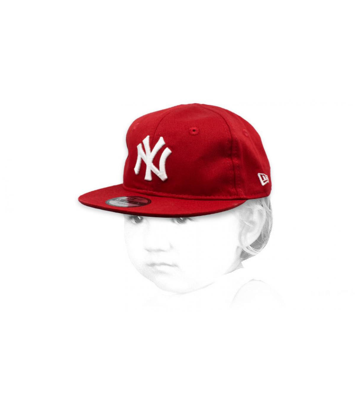 Baby Cap NY rot weiß