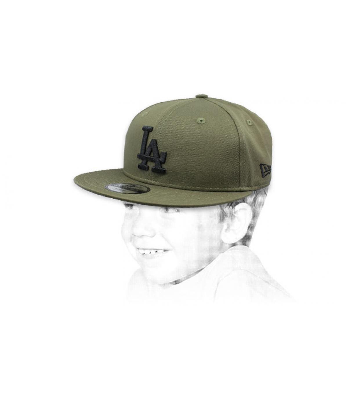 Kinder Cap LA grün schwarz