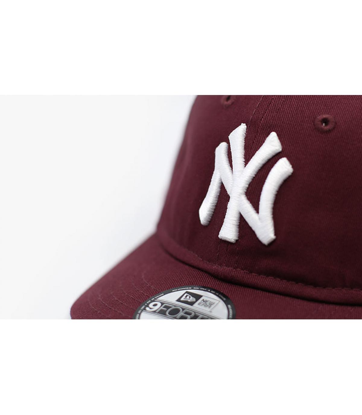 Details Baby Cap League Ess NY 9Forty maroon - Abbildung 3