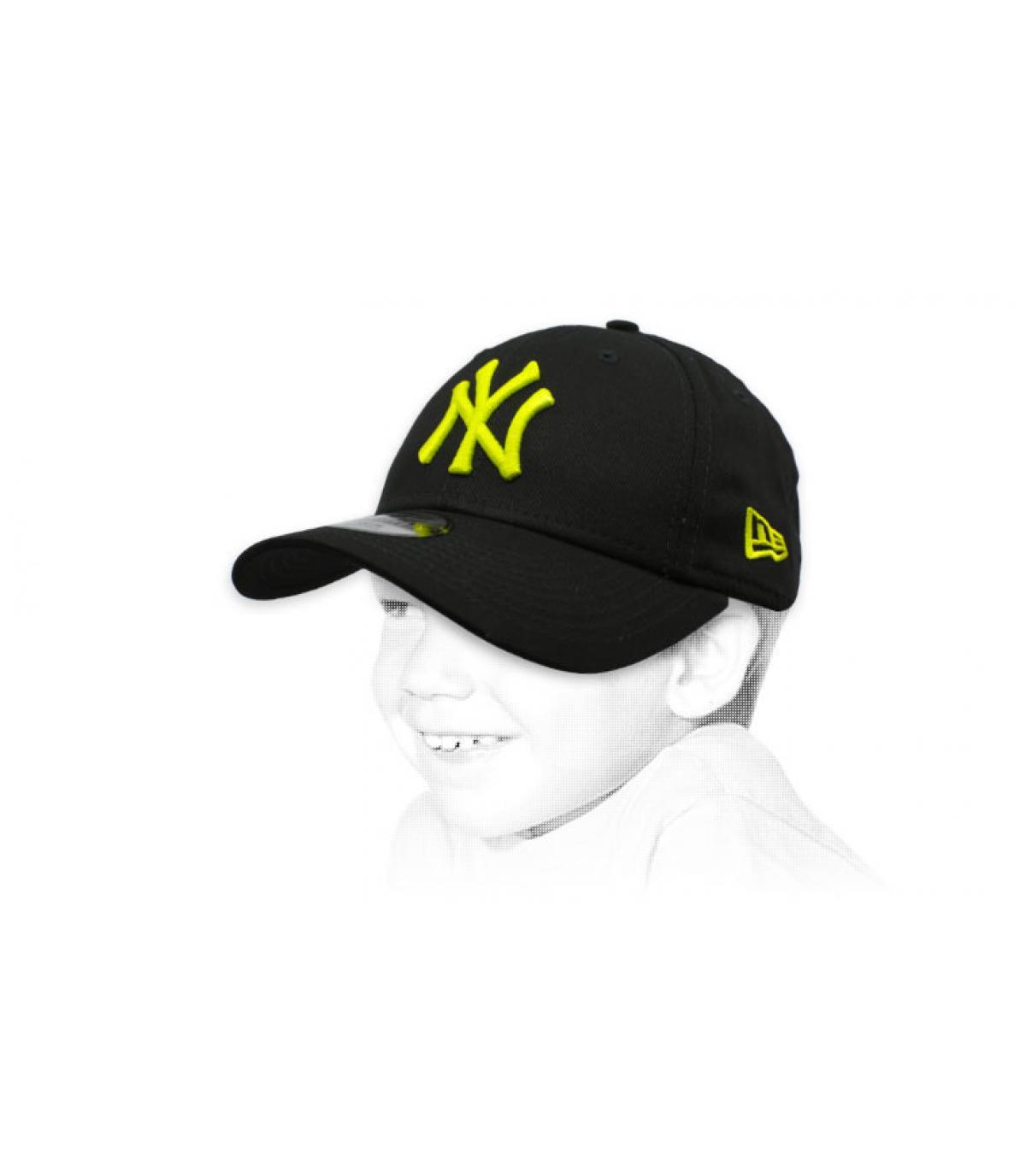 Kinder Cap NY schwarz gelb