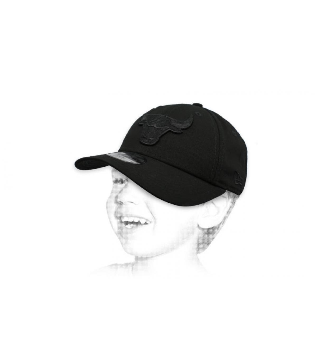 Kinder CapBulls schwarz
