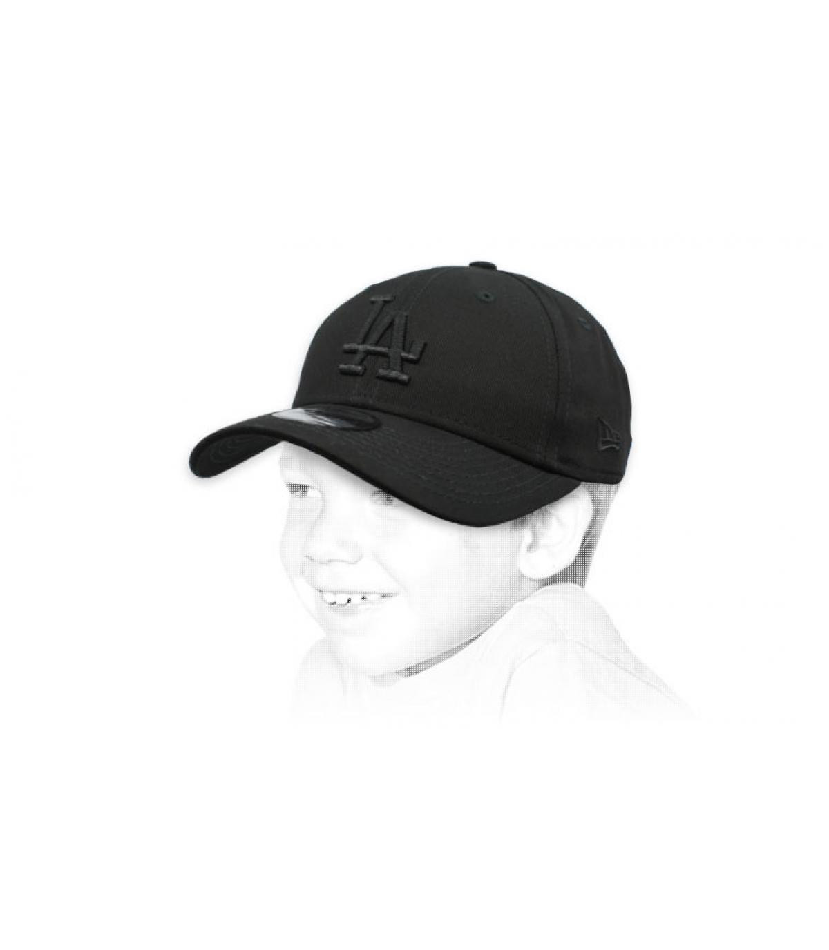 Kinder Cap LA schwarz