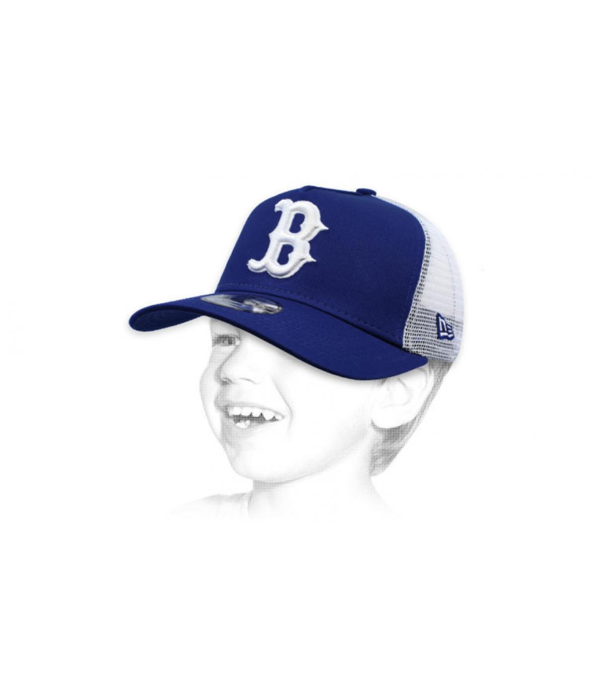 Kinder Trucker B blau