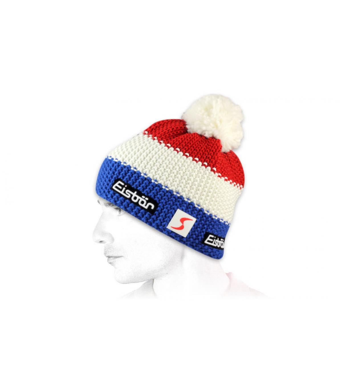 Blaue weiße rot Mütze