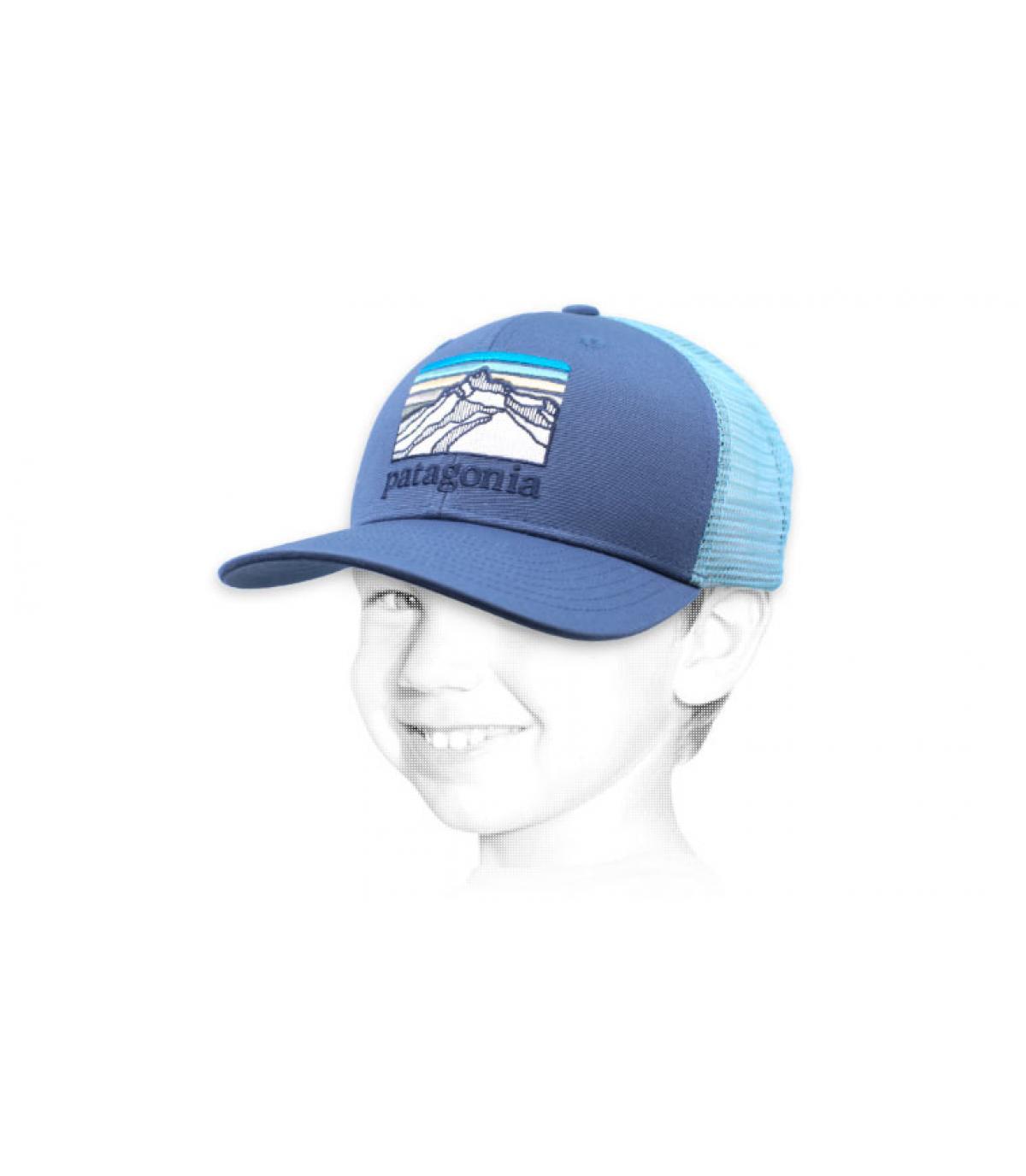 Kinder Trucker Patagonia blau