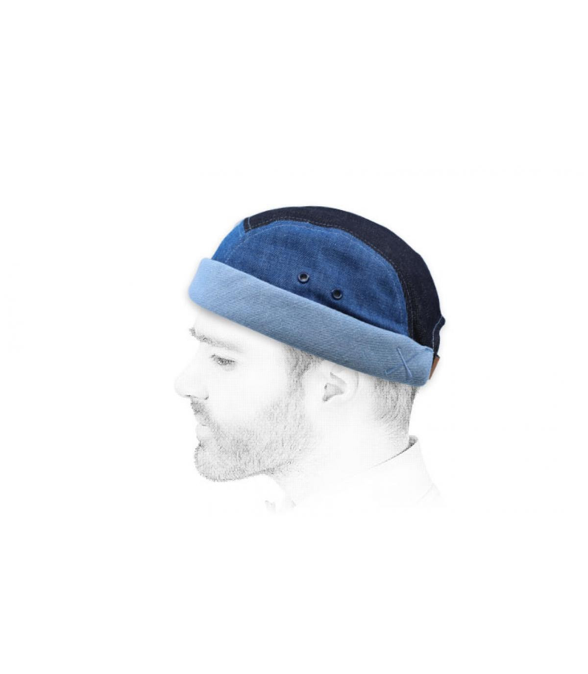 miki Streifen blau