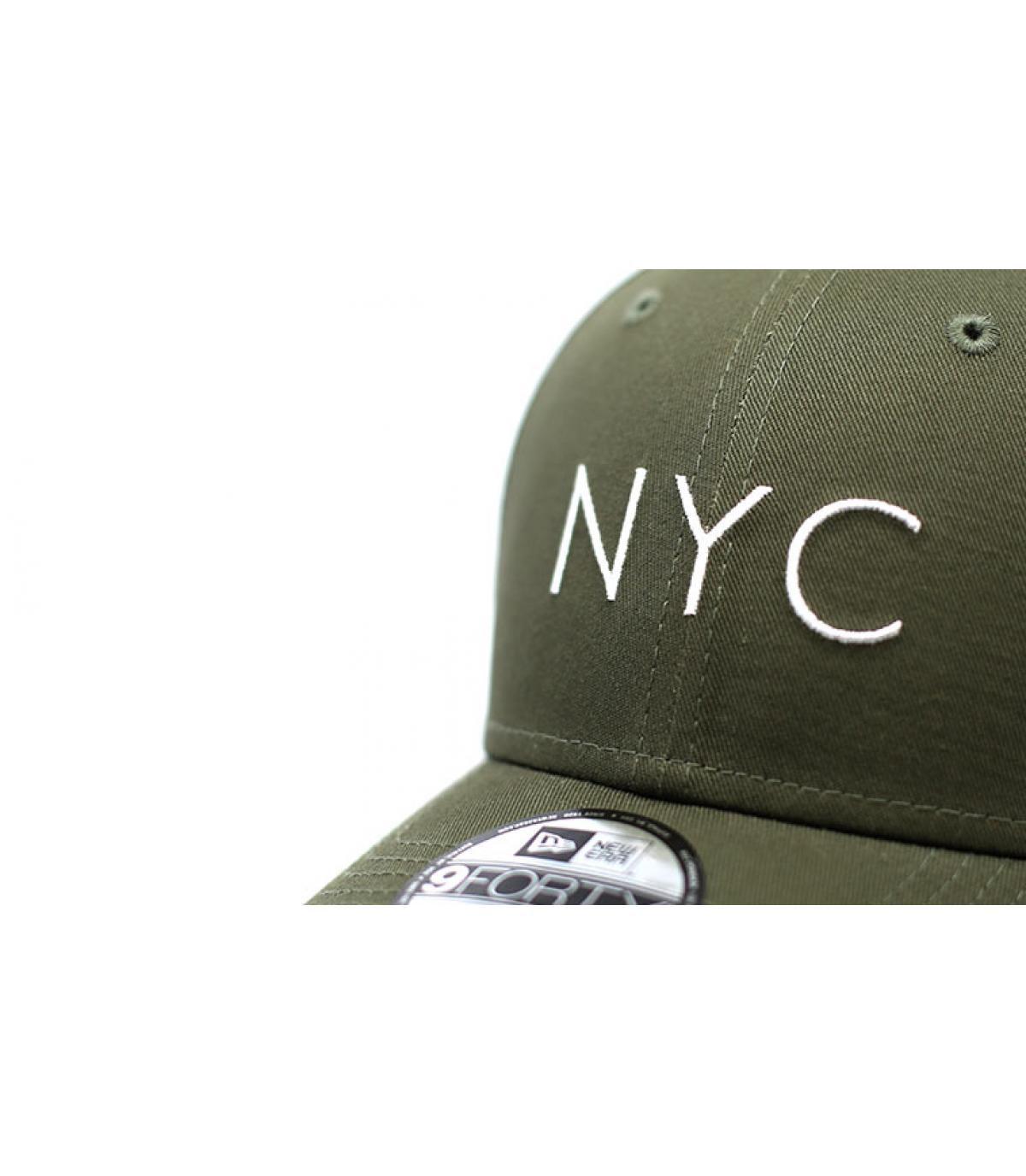 Details Cap NYC NE Ess 9Forty olive - Abbildung 3