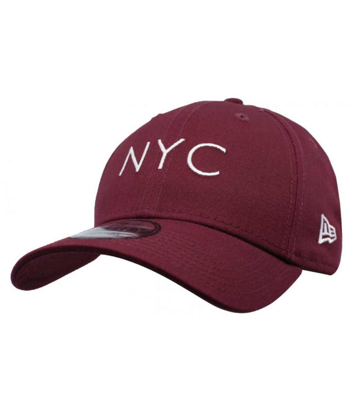 Details Cap NYC NE Ess 9Forty maroon - Abbildung 2