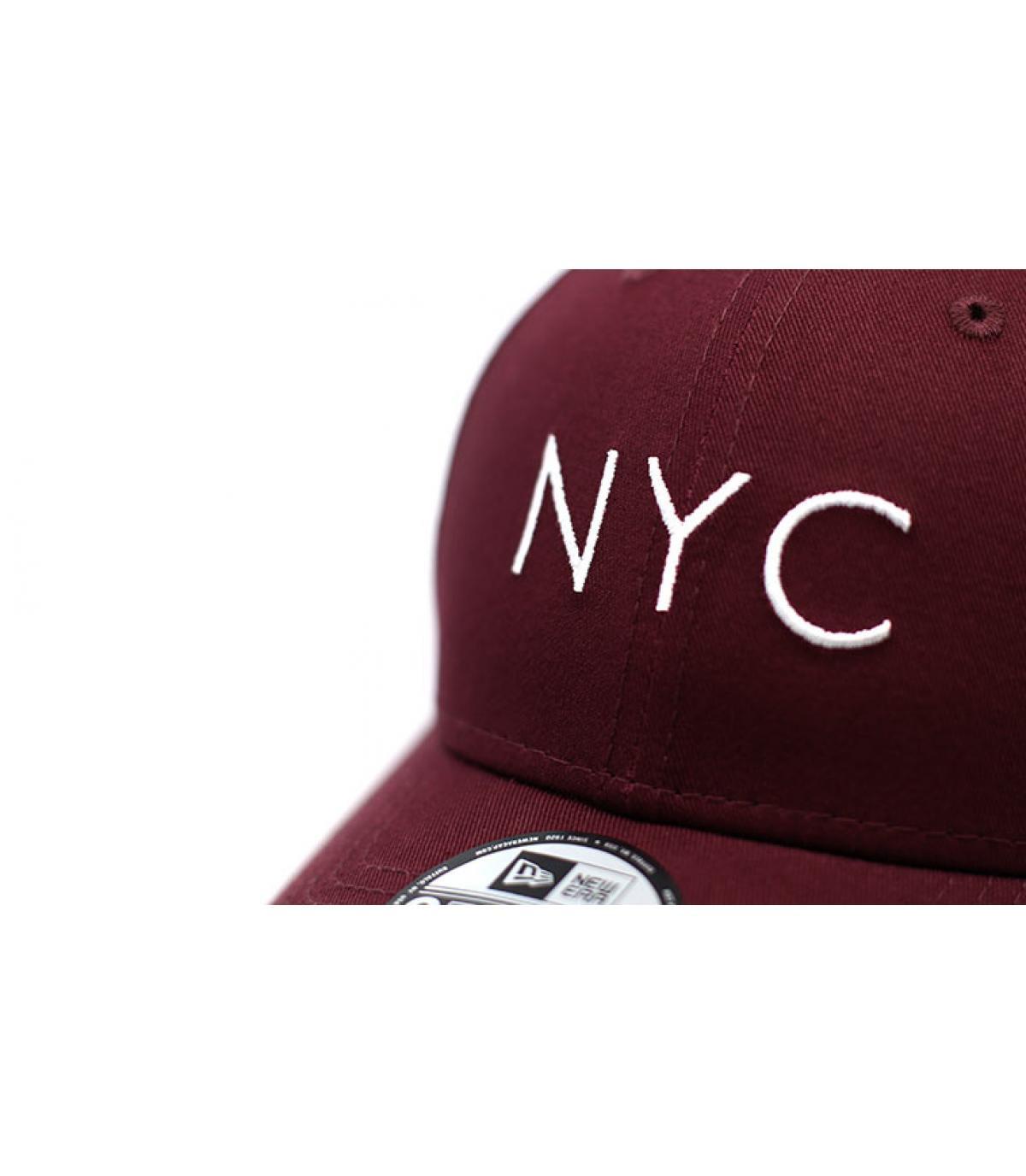 Details Cap NYC NE Ess 9Forty maroon - Abbildung 3