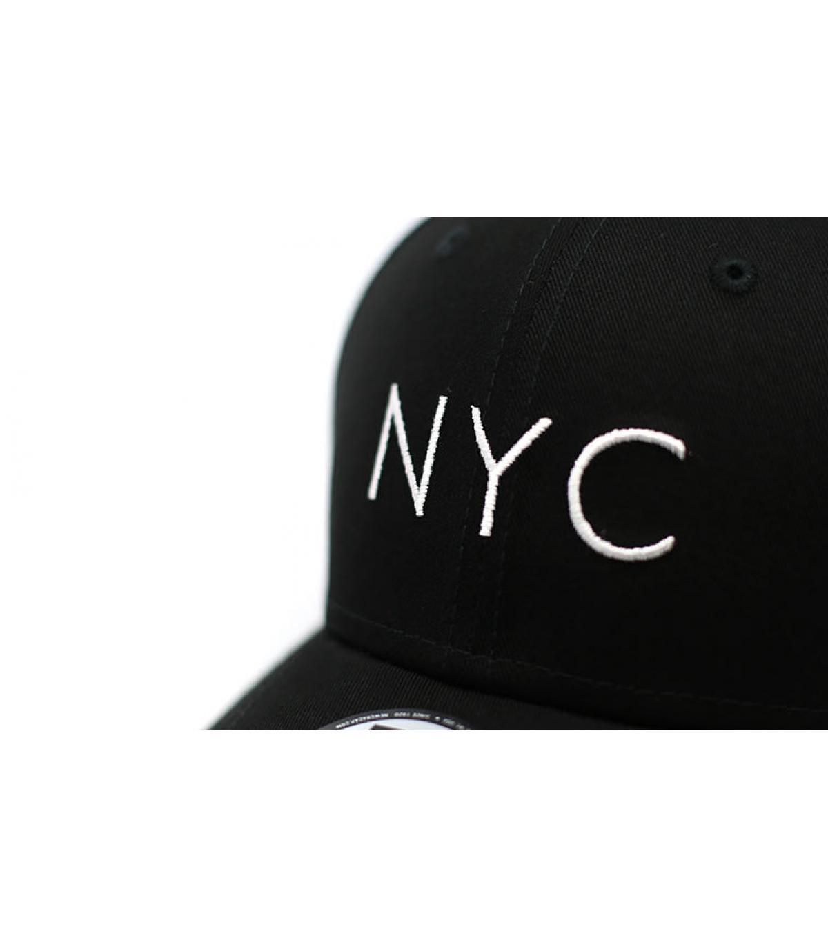 Details Cap NYC NE Ess 9Forty black - Abbildung 3