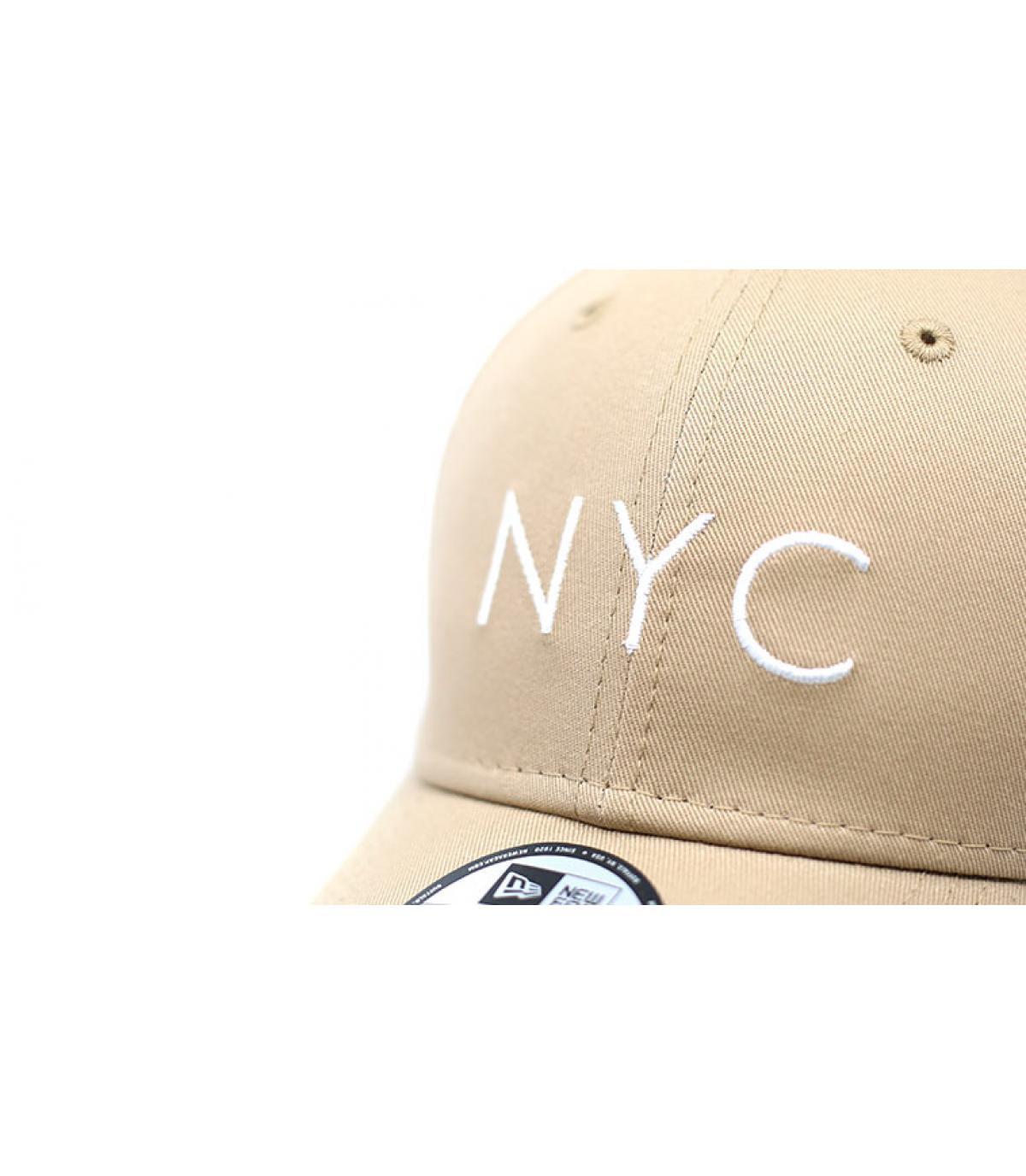 Details Cap NYC NE Ess 9Forty camel - Abbildung 3