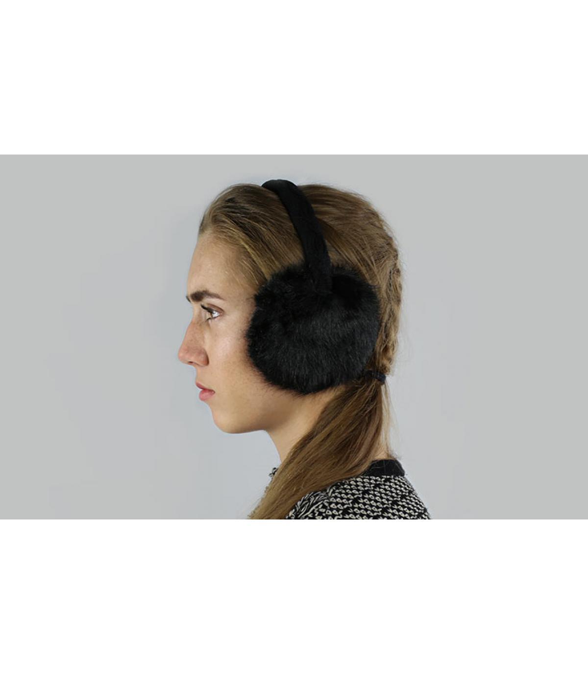Plush Ohrenschützer schwarz