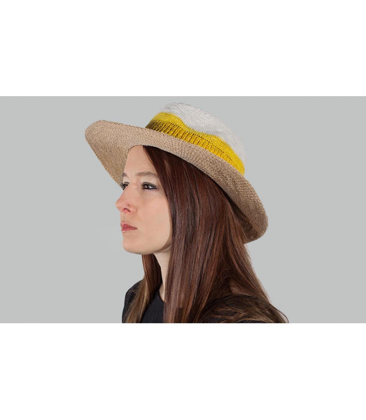 Hut gestreift gelb