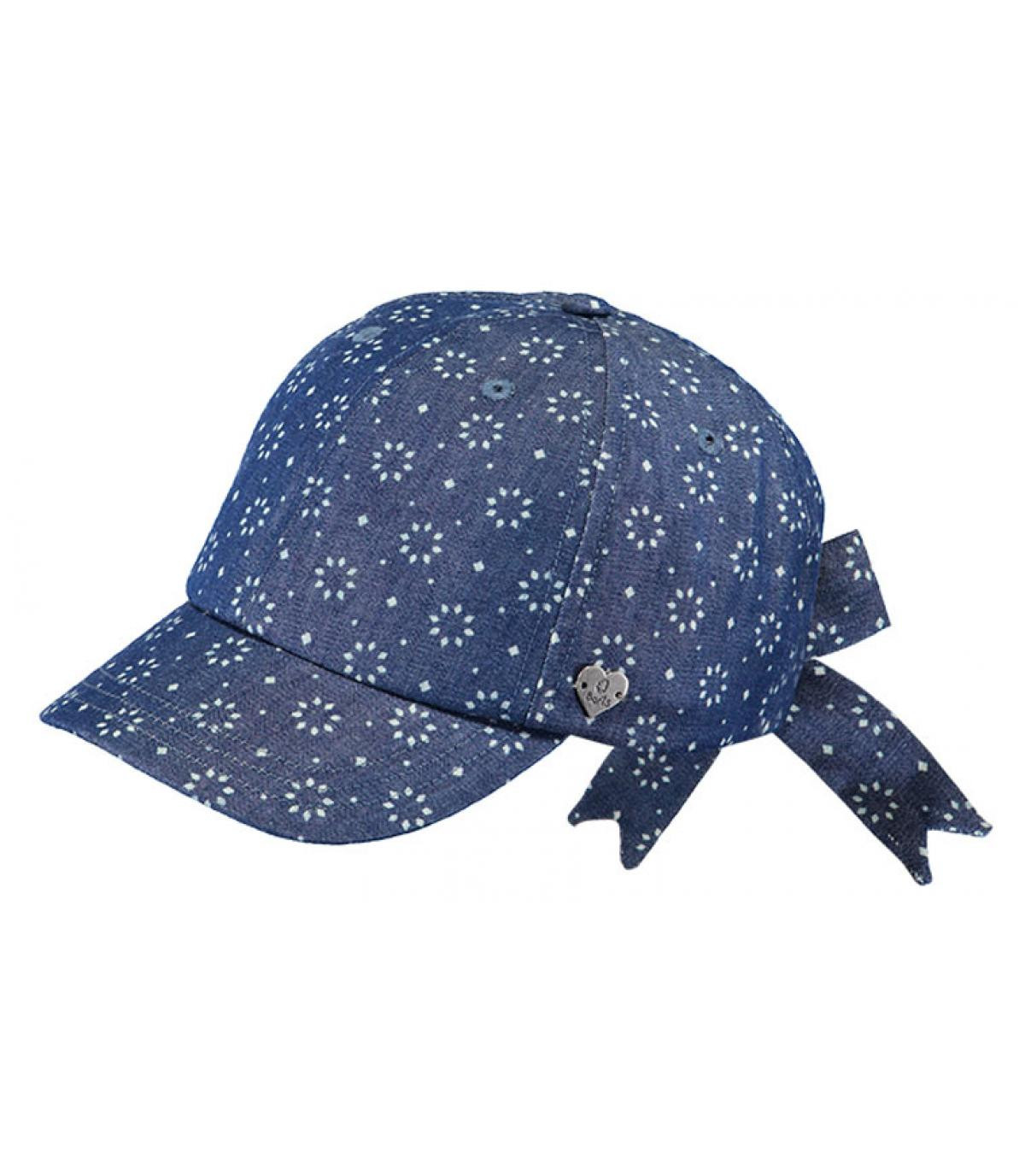 Kinder Cap blau Schleife