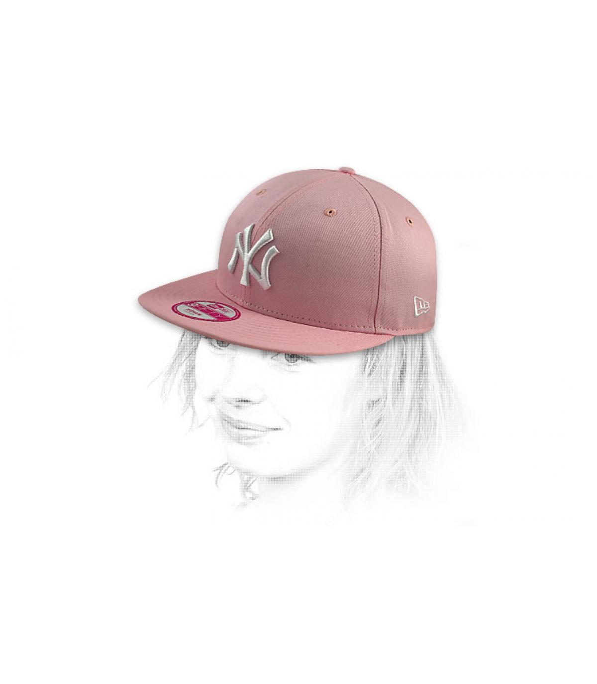 a1d8ca9e6322c Snapback NY Dames Mode rosa - Rosa NY Damen Cap von New Era.