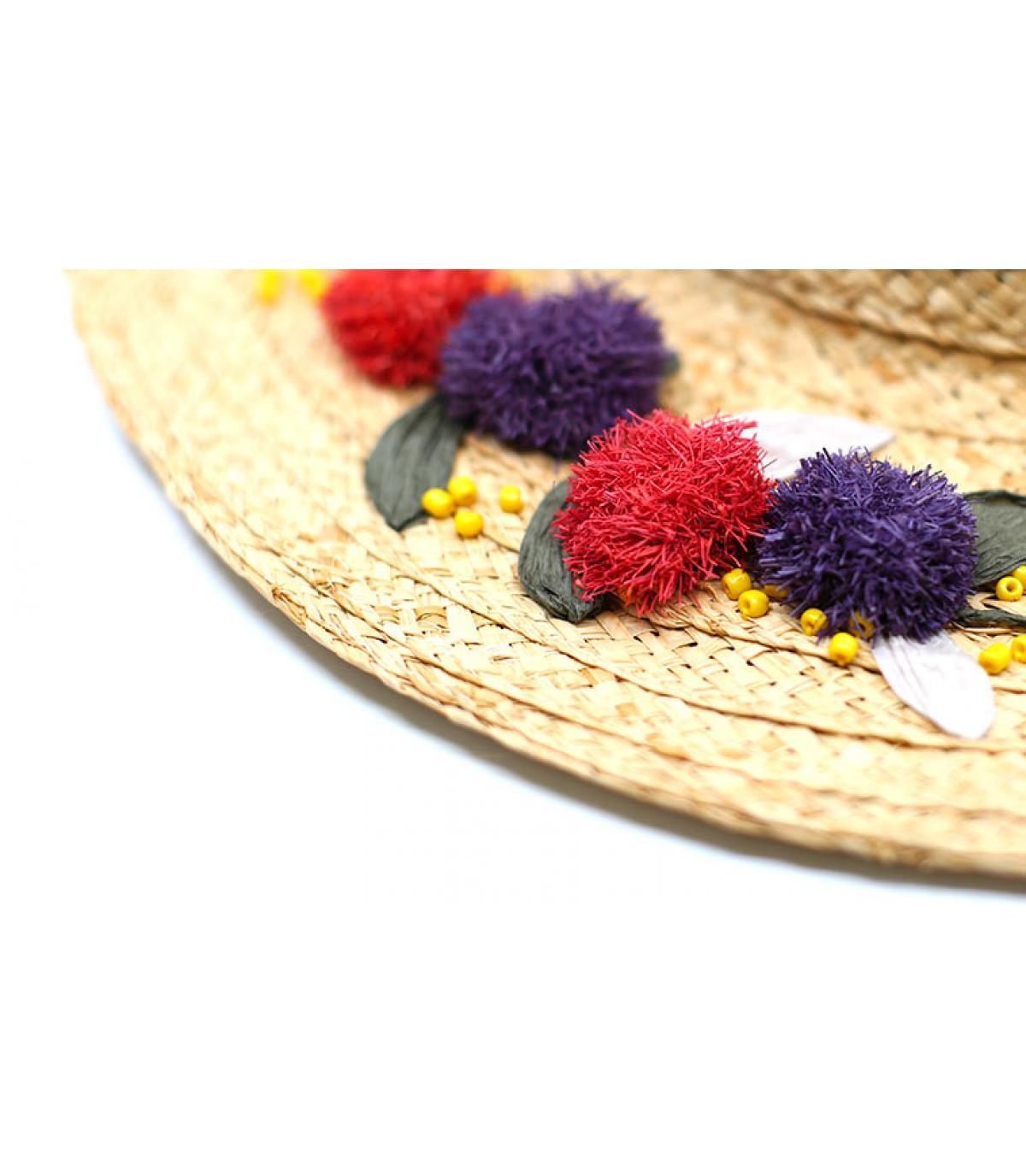 Details Floppy Raphia Flower Embroidery - Abbildung 4