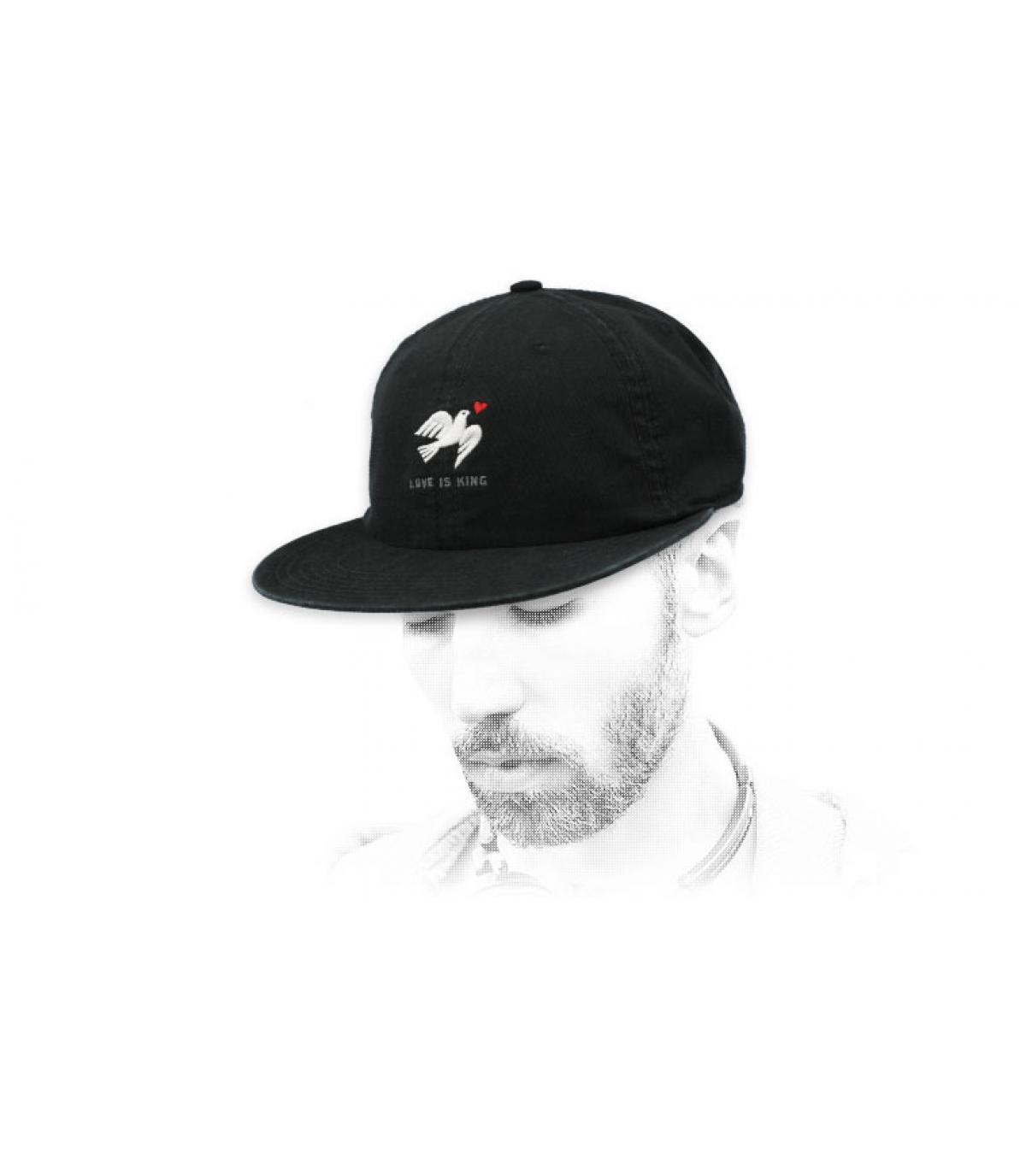 Cap Taube schwarz Wemoto