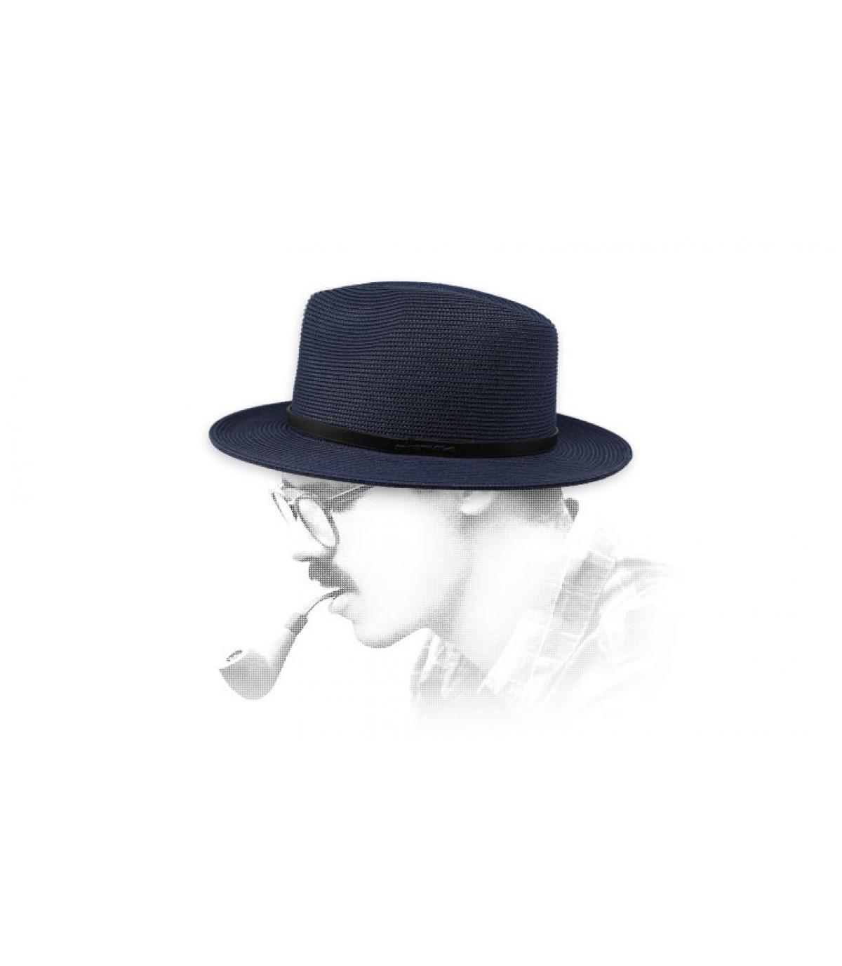 Fedora blau wasserabweisend
