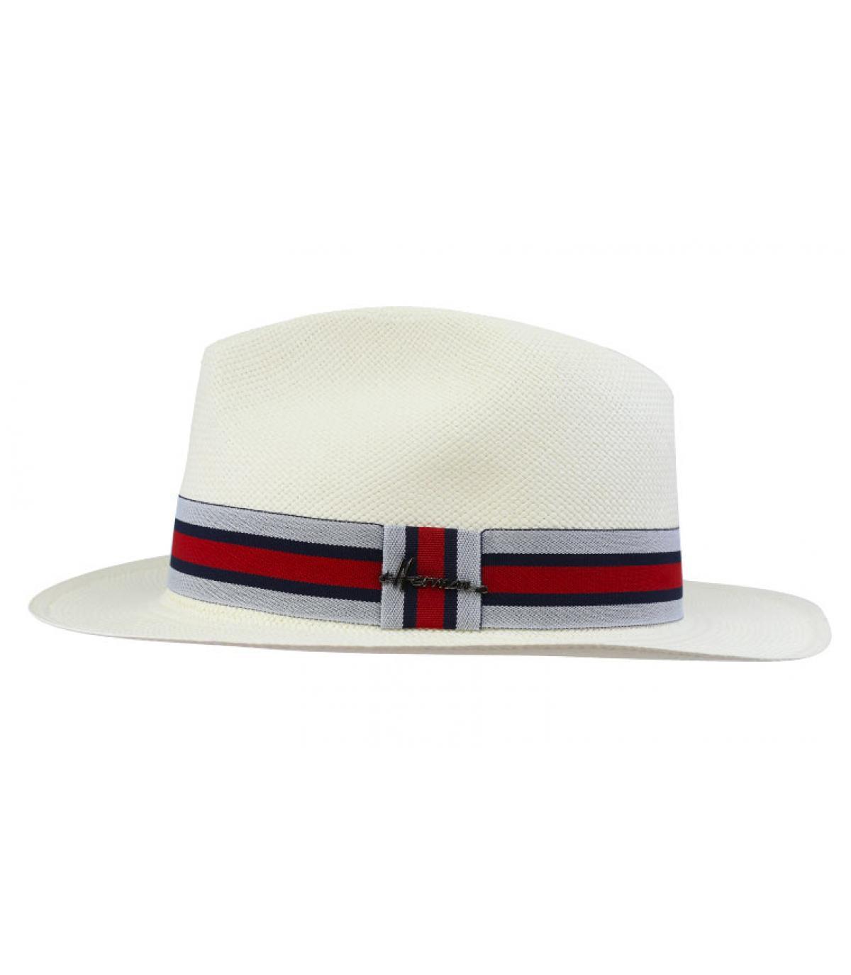 Weiße Panamablanc rotes Hutband