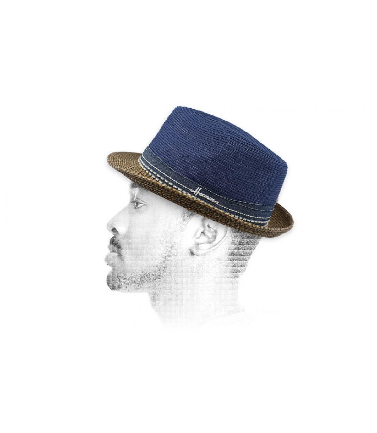 Blaue Strohhut wasserabweisend