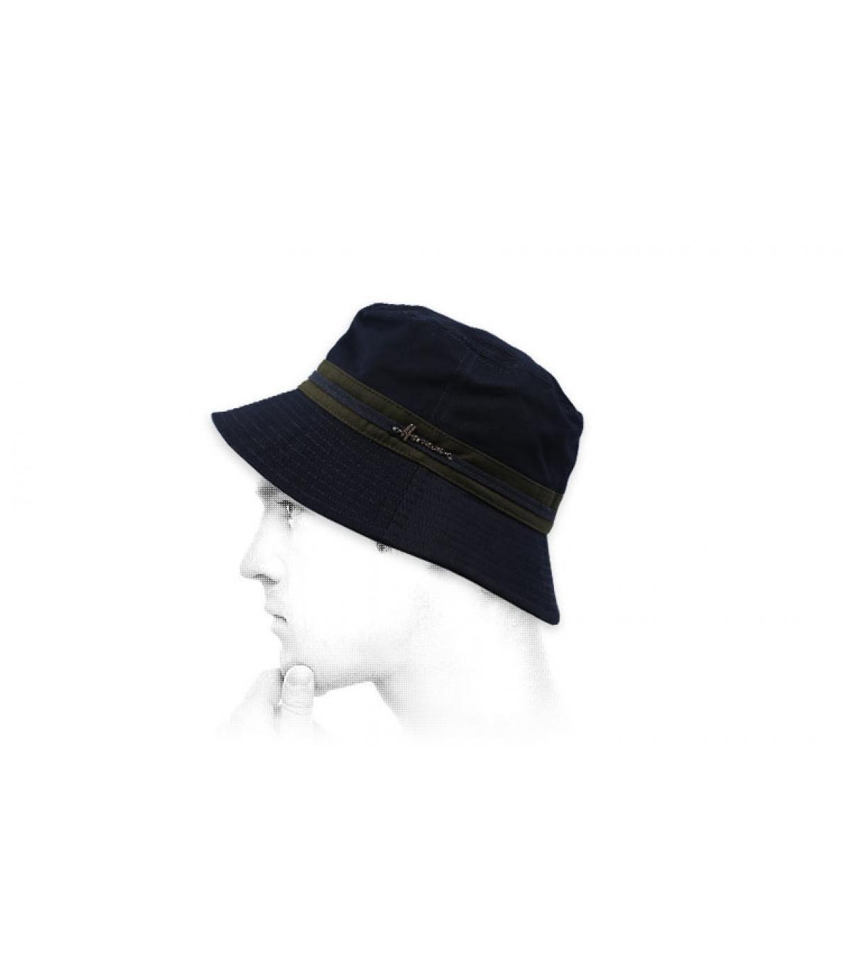 Fischerhut blau Baumwolle