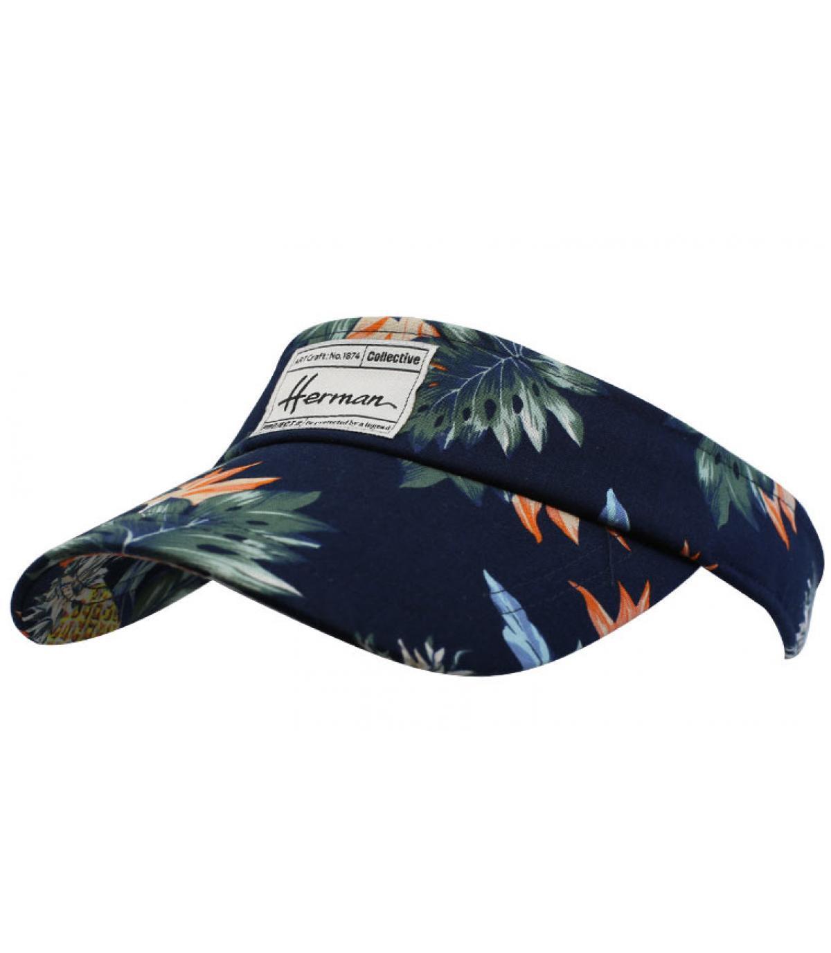 Visor marineblau Tropical