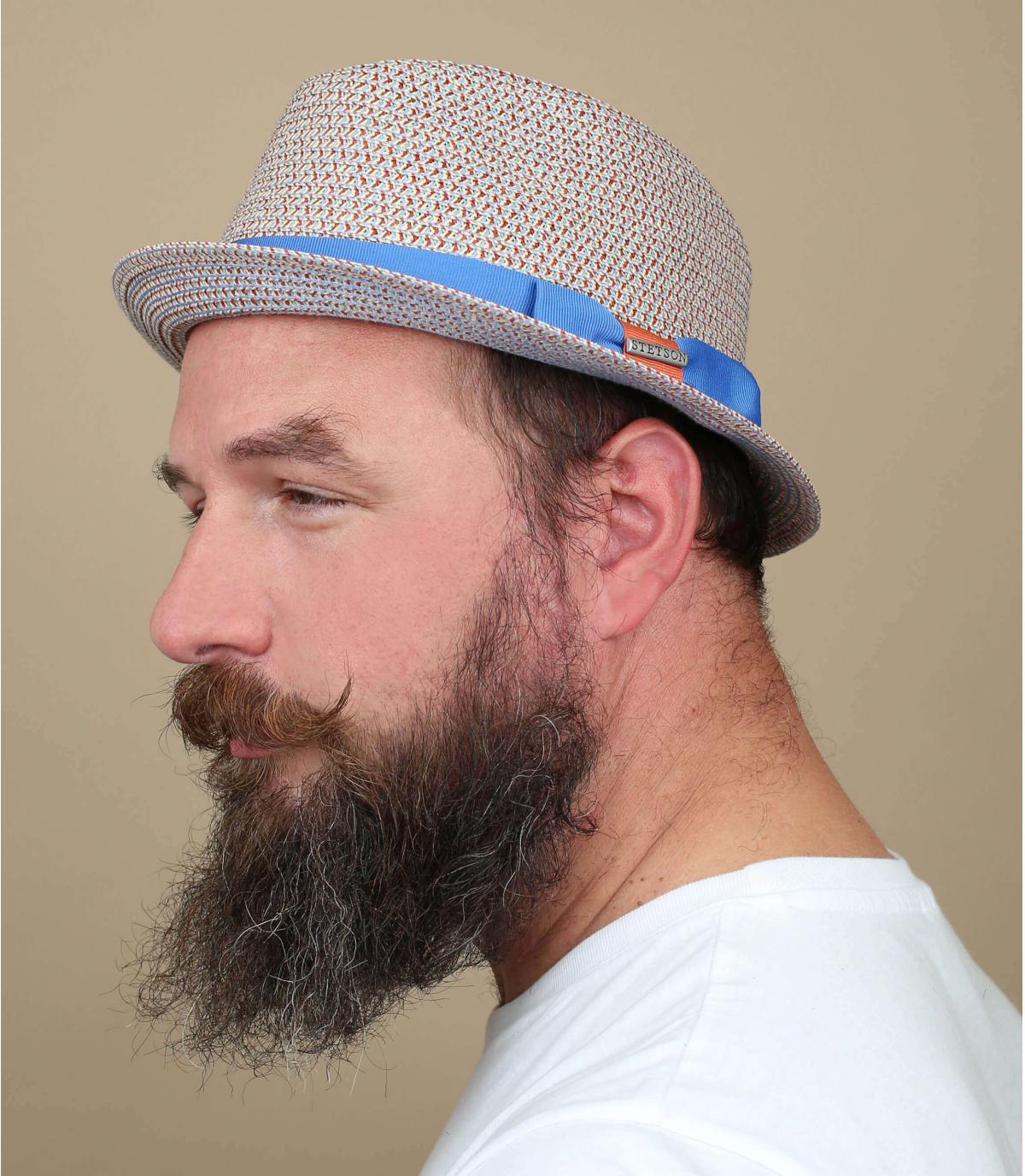 Trilby blau beige Hutband