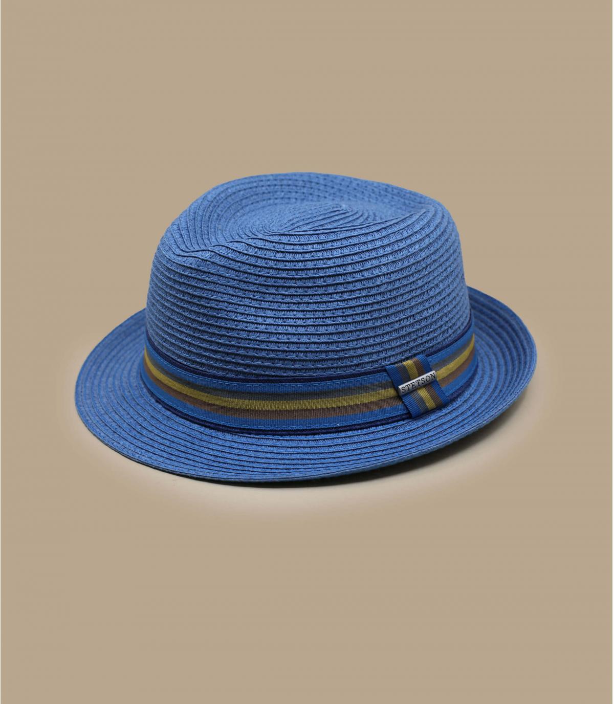 Trilby Strohut blau Stetson