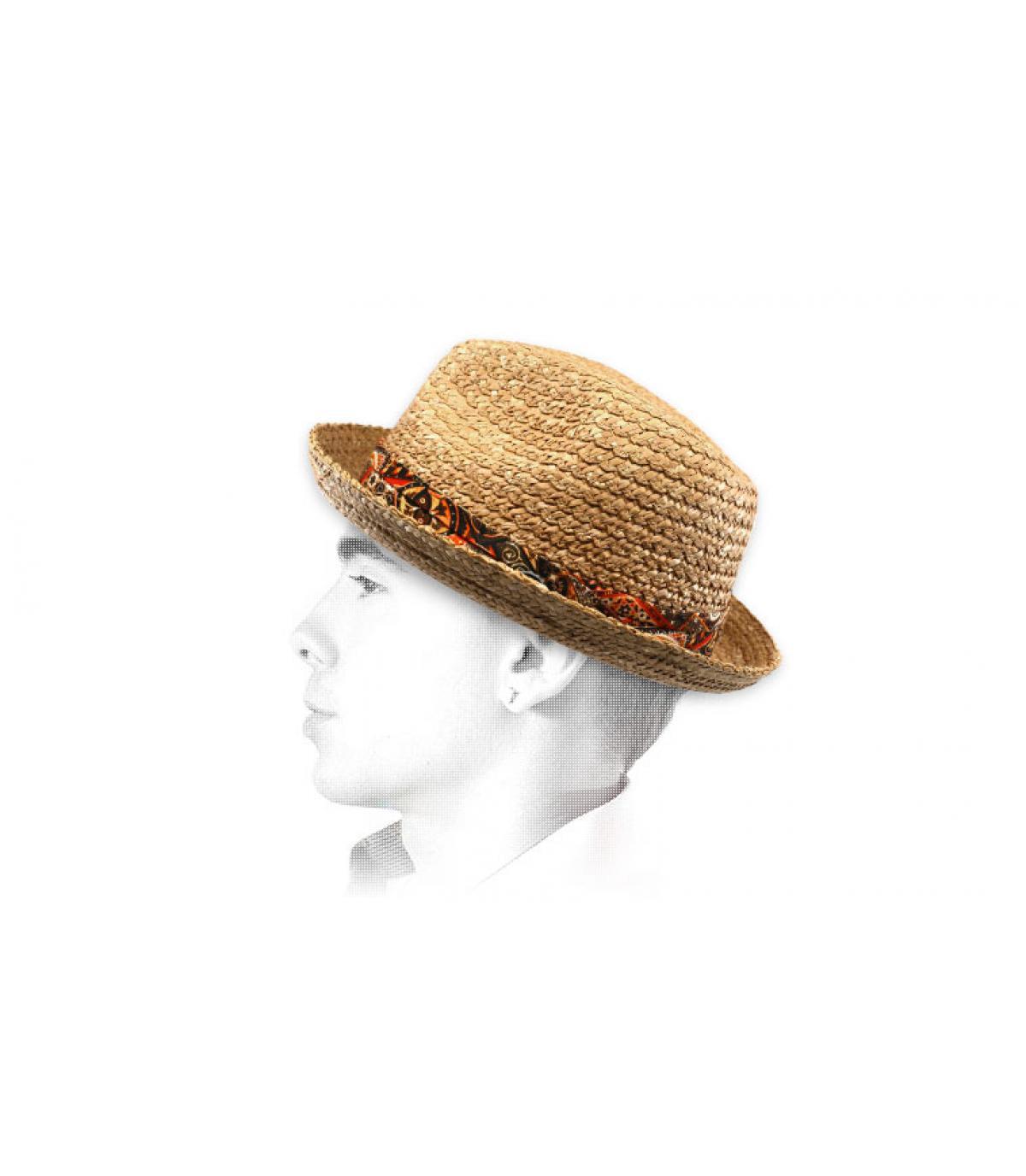 Strohhut Hutband Stoff Stetson